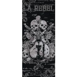 Gitár és koponyák öntapadós poszter, fotótapéta 841SKT /91x211 cm/