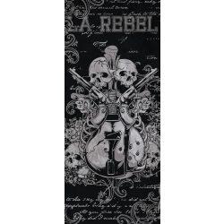 Gitár és koponyák vlies poszter, fotótapéta 841VET /91x211 cm/