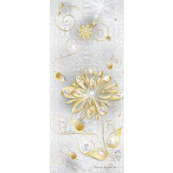 Virág minta öntapadós poszter, fotótapéta 883SKT /91x211 cm/