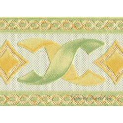Zöld-sárga  mintás bordűr