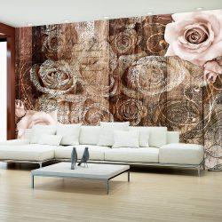 Fotótapéta - Old Wood & Roses