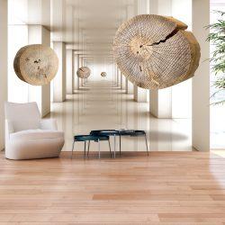 Fotótapéta - Flying Discs of Wood