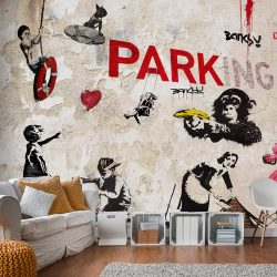 Fotótapéta - [Banksy] Graffiti Collage