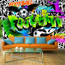 Fotótapéta - Football Graffiti