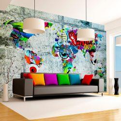Fotótapéta - Map - Graffiti