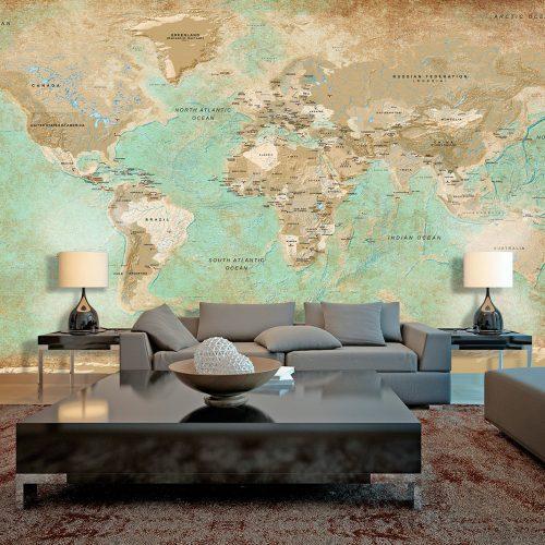 XXL Fotótapéta - Turquoise World Map II