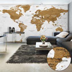 XXL Fotótapéta - World Map: White Oceans II