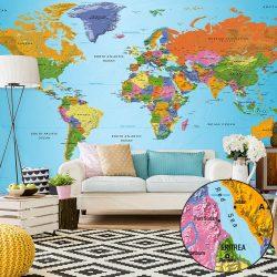 XXL Fotótapéta - World Map: Colourful Geography II