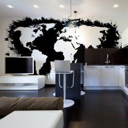 Fotótapéta - Fehér kontinensen fekete óceánok ...