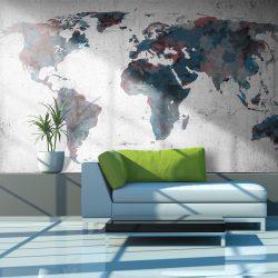 Fotótapéta - World map on the wall