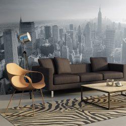 XXL Fotótapéta - New York City skyline fekete-fehér