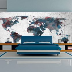 XXL Fotótapéta - World map on the wall