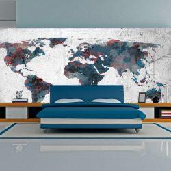 XXL Fotótapéta - World map on the wall