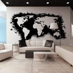 XXL Fotótapéta - Fehér kontinensen fekete óceánok ...