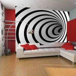 Fotótapéta - Fekete-fehér 3D alagút