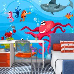 Fotótapéta - Octopus and shark