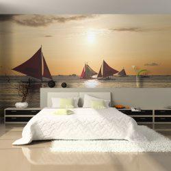 Fotótapéta - sailing boats - sunset