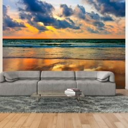 Fotótapéta - Színes naplementét a tengeren