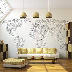 Fotótapéta - Map of the World - white solids