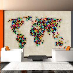 Fotótapéta - World Map - a kaleidoscope of colors