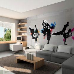Fotótapéta - Monkey dance - street art