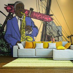 Fotótapéta - Saxophonist in New York