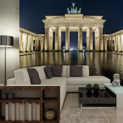 Fotótapéta - Brandenburgi kapu éjjel