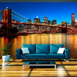 Fotótapéta - Dusk át a Brooklyn Bridge