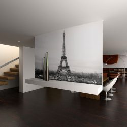 Fotótapéta - Párizs: fekete-fehér fotográfia