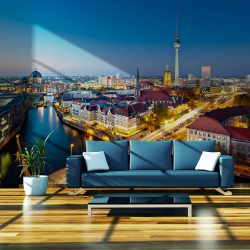 Fotótapéta - Berlin view from Fischerinsel (night)
