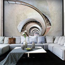 Fotótapéta - White spiral stairs