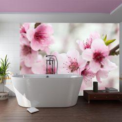 Fotótapéta - Spring, virágzó fa - rózsaszín virágok