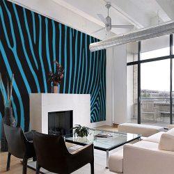 Fotótapéta - Zebra pattern (turquoise)