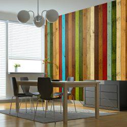 Fotótapéta - Wooden rainbow