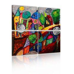 Kép - Colourful city