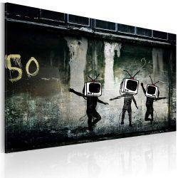 Kép - TV heads dance (Banksy)