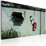 Kép - Boy on a swing (Banksy)