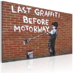 Kép - Last graffiti before motorway (Banksy)