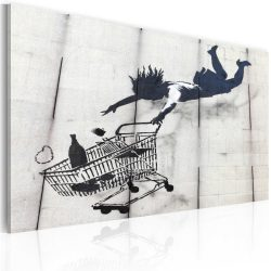 Kép - Falling woman with supermarket trolley (Banksy)
