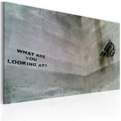 Kép - Mit bámulsz? (Banksy)