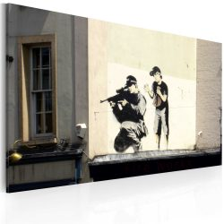 Kép - Sniper and boy (Banksy)