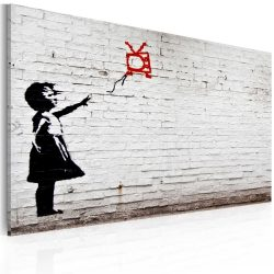 Kép - Girl with TV (Banksy)