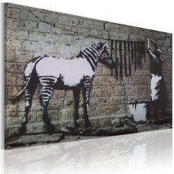 Kép - Zebra mosás (Banksy)