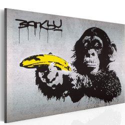 Kép - Állj, vagy lő a majom! (Banksy)