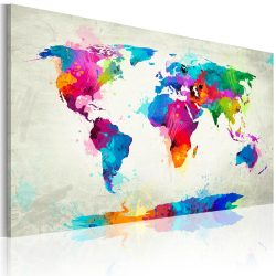 Kép - Map of the world - an explosion of colors