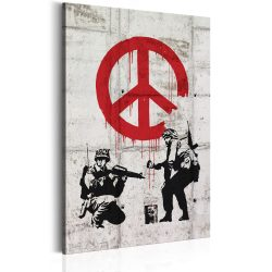 Kép -  Soldiers Painting Peace by Banksy