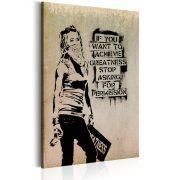 Kép - Graffiti Slogan by Banksy