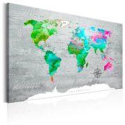 Kép - World Map: Green Paradise