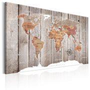 Kép - World Map: Wooden Stories