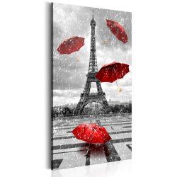 Kép - Paris: Red Umbrellas
